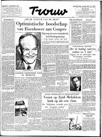 Trouw / De Rotterdammer 1955-01-07