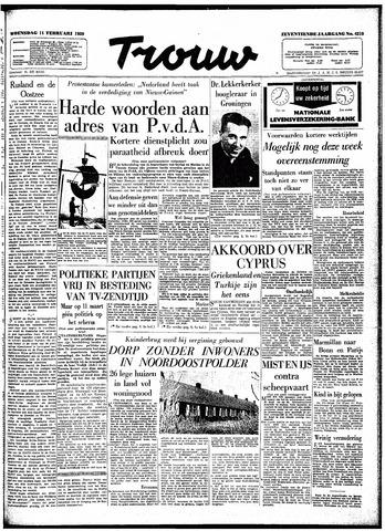 Trouw / De Rotterdammer 1959-02-11