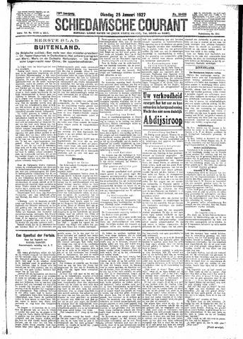 Schiedamsche Courant 1927-01-25