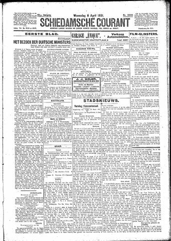 Schiedamsche Courant 1931-04-08