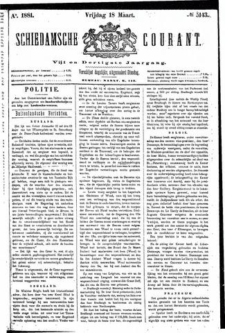 Schiedamsche Courant 1881-03-18