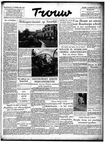 Trouw / De Rotterdammer 1953-02-18