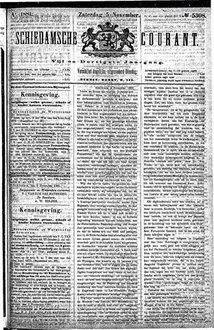 Schiedamsche Courant 1881-11-05