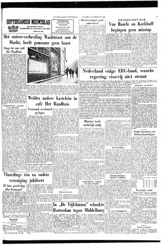 Rotterdamsch Nieuwsblad / Schiedamsche Courant / Rotterdams Dagblad / Waterweg / Algemeen Dagblad 1964-02-24