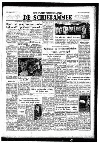 Rotterdamsch Parool / De Schiedammer 1949-11-01