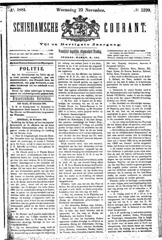 Schiedamsche Courant 1881-11-23