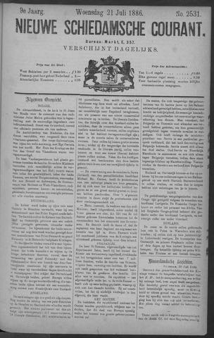 Nieuwe Schiedamsche Courant 1886-07-21