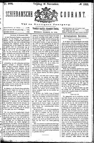 Schiedamsche Courant 1881-11-11