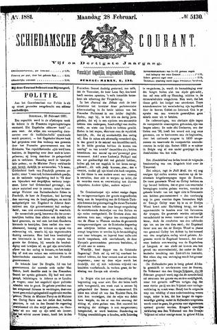 Schiedamsche Courant 1881-02-28