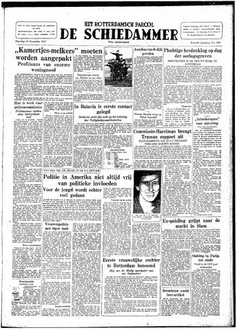 Rotterdamsch Parool / De Schiedammer 1947-11-10