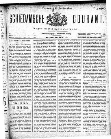 Schiedamsche Courant 1885-09-12