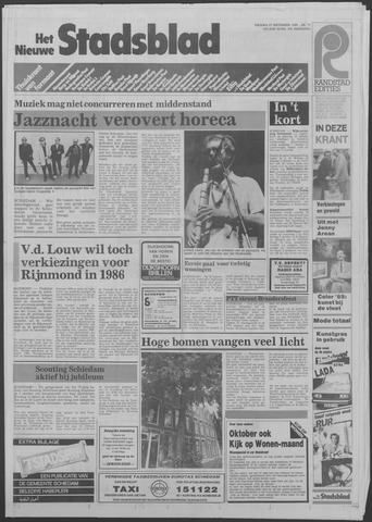 Het Nieuwe Stadsblad 1985-09-27