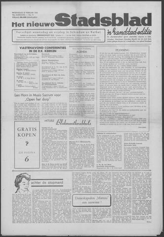 Het Nieuwe Stadsblad 1963-02-27