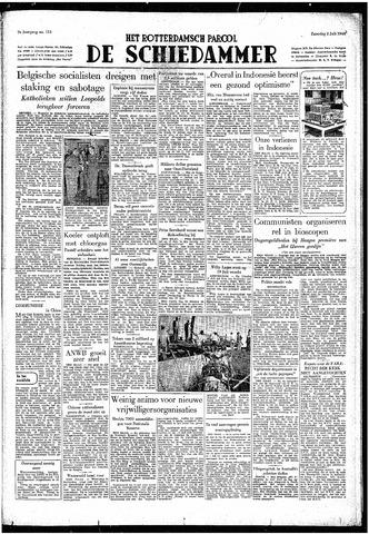 Rotterdamsch Parool / De Schiedammer 1949-07-02