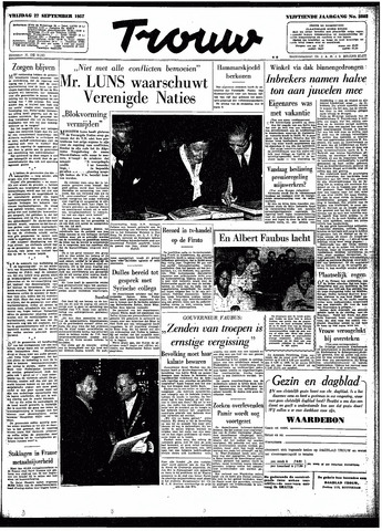 Trouw / De Rotterdammer 1957-09-27
