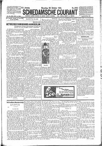 Schiedamsche Courant 1931-10-26