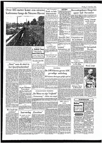 Rotterdamsch Parool / De Schiedammer 1955-09-27