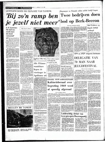 Rotterdamsch Parool / De Schiedammer 1968-07-13
