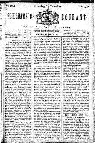 Schiedamsche Courant 1881-11-21