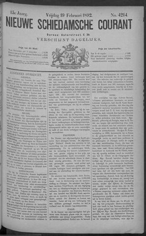 Nieuwe Schiedamsche Courant 1892-02-19