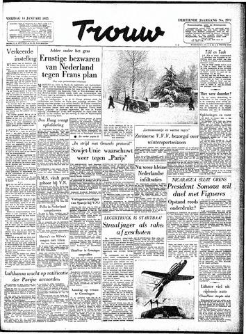 Trouw / De Rotterdammer 1955-01-14