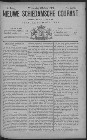 Nieuwe Schiedamsche Courant 1892-06-22