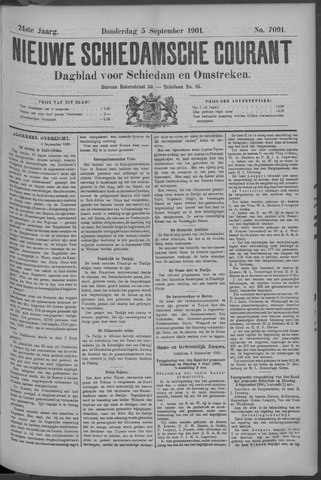 Nieuwe Schiedamsche Courant 1901-09-05