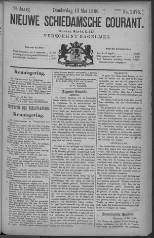 Nieuwe Schiedamsche Courant 1886-05-13
