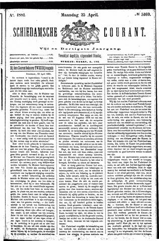 Schiedamsche Courant 1881-04-25