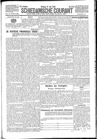 Schiedamsche Courant 1931-07-17