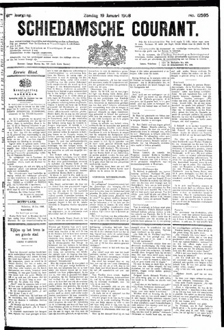 Schiedamsche Courant 1908-01-19