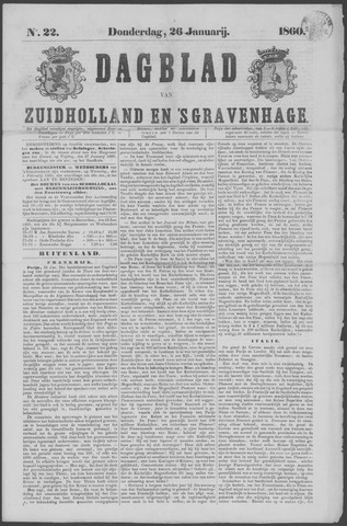 Dagblad van Zuid-Holland 1860-01-26