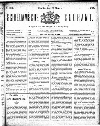 Schiedamsche Courant 1885-03-19