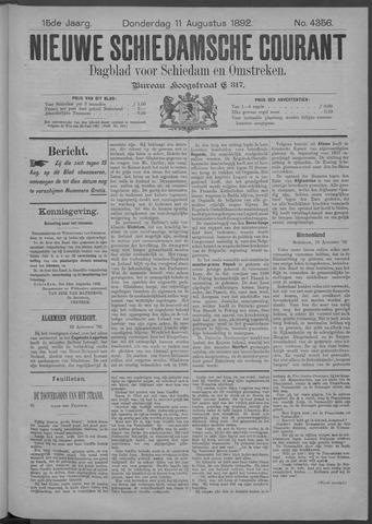 Nieuwe Schiedamsche Courant 1892-08-11