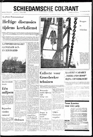Rotterdamsch Nieuwsblad / Schiedamsche Courant / Rotterdams Dagblad / Waterweg / Algemeen Dagblad 1970-02-09