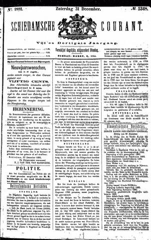 Schiedamsche Courant 1881-12-31