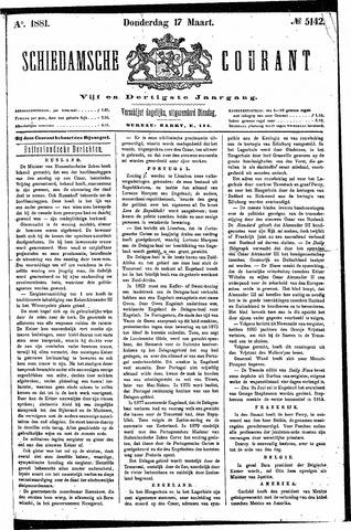 Schiedamsche Courant 1881-03-17