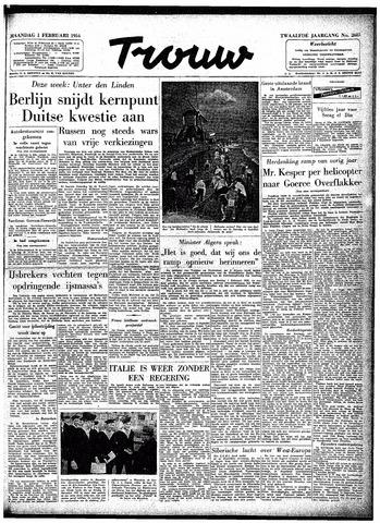 Trouw / De Rotterdammer 1954-02-01