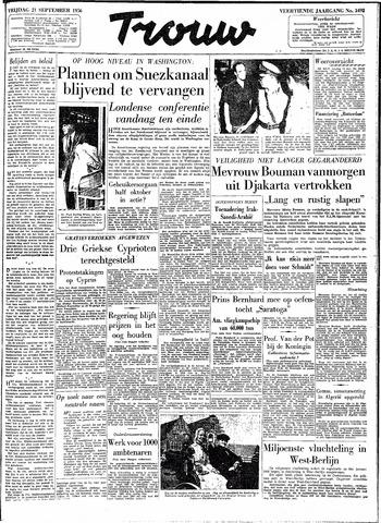 Trouw / De Rotterdammer 1956-09-21