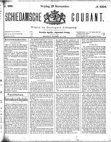 Schiedamsche Courant 1885-11-27