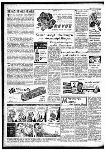 Rotterdamsch Parool / De Schiedammer 1957-11-22