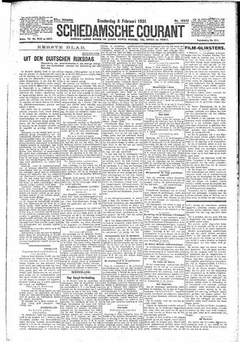 Schiedamsche Courant 1931-02-05