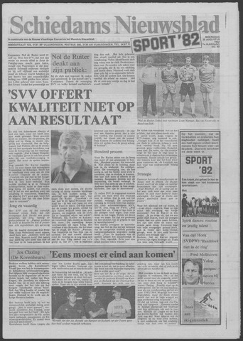 Schiedams Nieuwsblad 1982-08-25