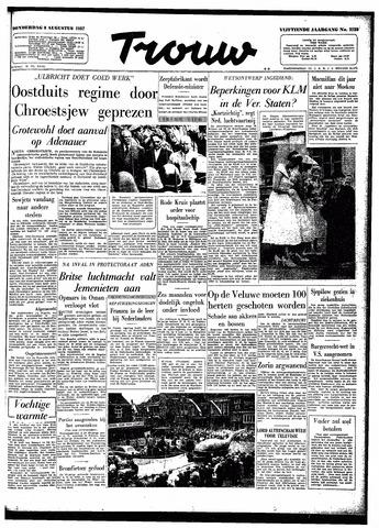 Trouw / De Rotterdammer 1957-08-08