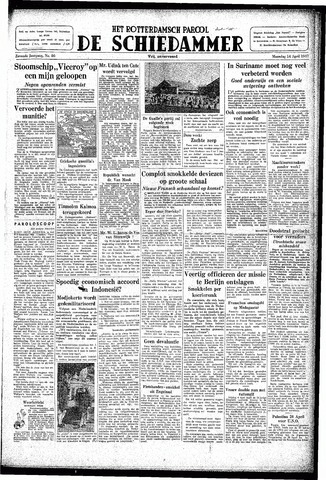 Rotterdamsch Parool / De Schiedammer 1947-04-14