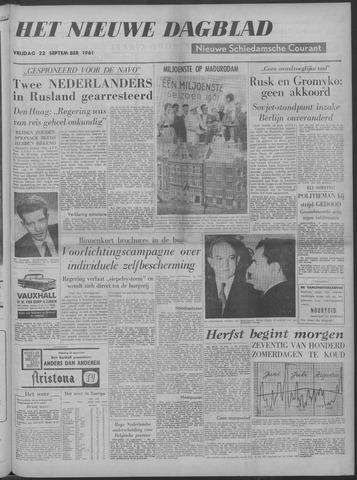 Nieuwe Schiedamsche Courant 1961-09-22
