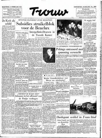 Trouw / De Rotterdammer 1955-02-02