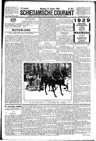 Schiedamsche Courant 1929-01-21
