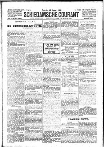 Schiedamsche Courant 1931-01-10