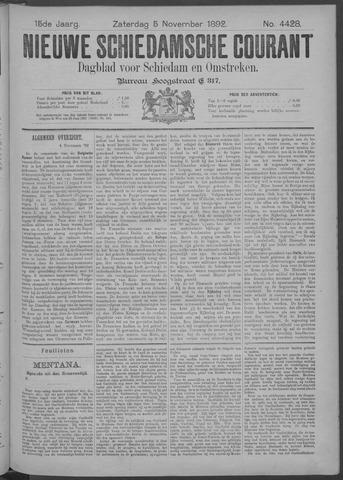 Nieuwe Schiedamsche Courant 1892-11-05